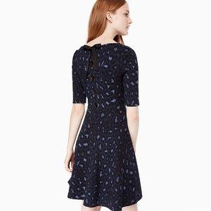 kate spade ∙ leopard print lace up ponte dress
